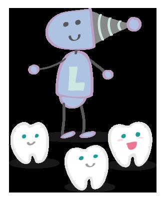 Dibujo del láser dental para peques